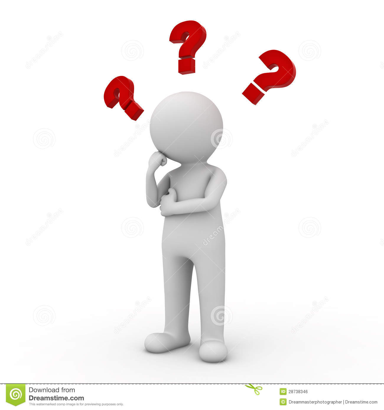 Question Mark clipart person Mark Clipart 3d With question