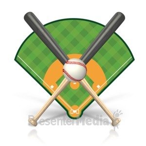 Baseball clipart baseball hit  Field Presentation Clipart 15468