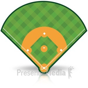 Baseball clipart baseball hit Field Clipart for 15487 Presentation