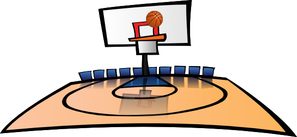 Playground clipart basketball court #12