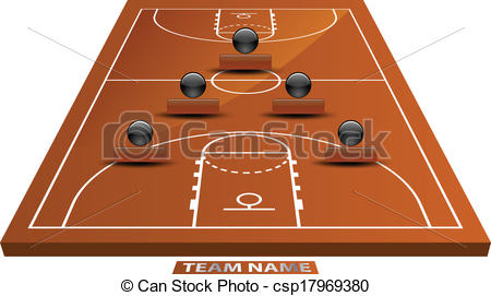 Playground clipart school fun Court basketball csp17969380  Vector