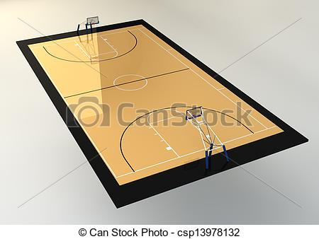 3D clipart basketball court 3d Drawings Court Illustration of