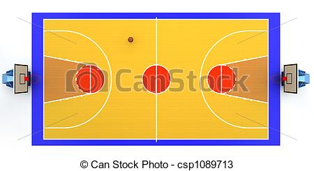 3D clipart basketball court Rendered court of illustration csp1089713