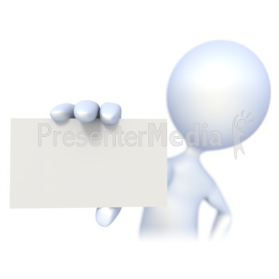 3D clipart business 3D Card Business Signs Figure