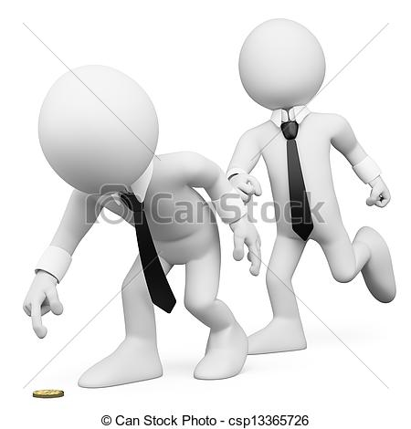 3D clipart business 3D 3d trick white white