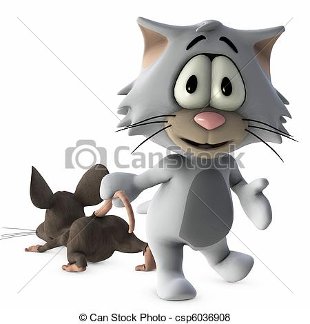 3D clipart cat Stock of mouse mouse Illustration