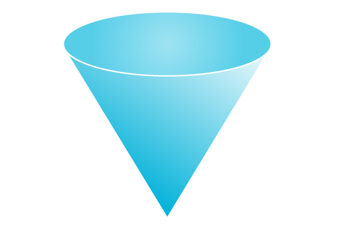 3D clipart cone shape And Cone Zone Shape 2D