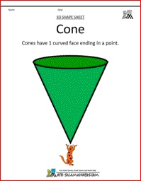 3D clipart cone shape Printable Pinterest 105 on 3D