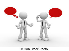 3D clipart conversation Stock blank talking  3