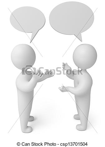 3D clipart conversation Render of Stock  Illustration