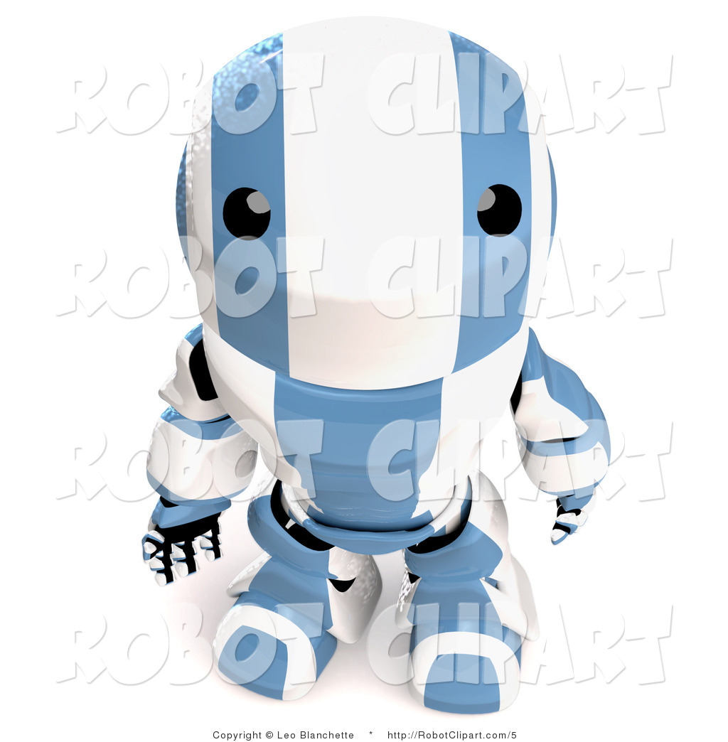 3D clipart curiousity White Looking Stock Free Robot