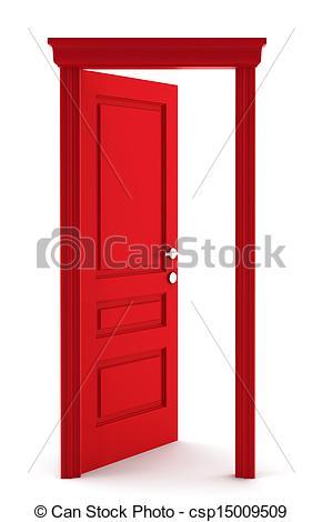 Door clipart red Red door door Stock Illustration