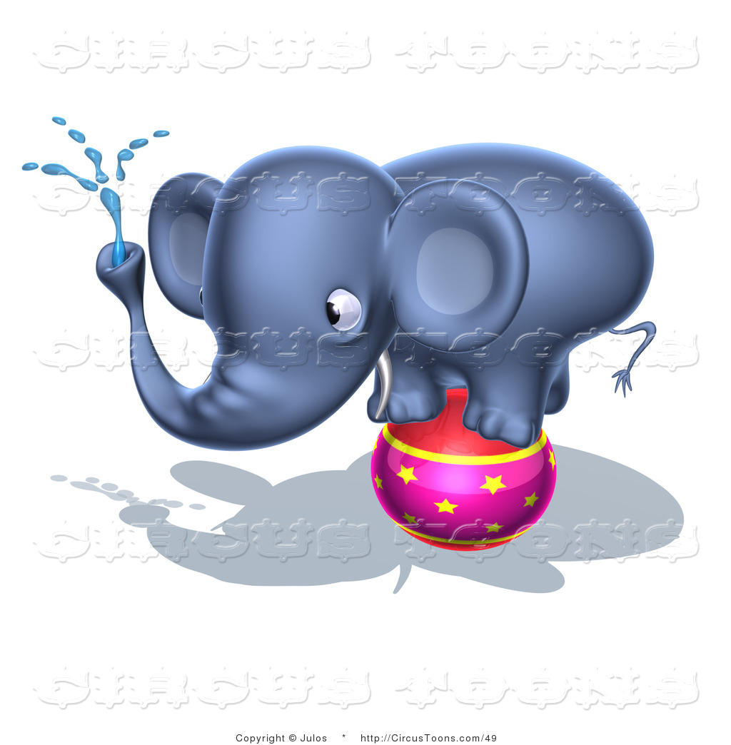 3D clipart elephant Water Stock Designs Page Ball