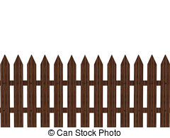 Brown clipart picket fence Fence  Wooden Picket royalty
