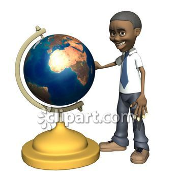 3D clipart friendly person Teaching School standing learning man