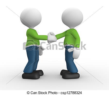 3D clipart friendly person Clip man 3d Friendship Stock