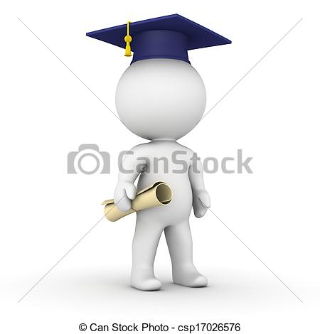 3D clipart graduation With cap cap and 3D