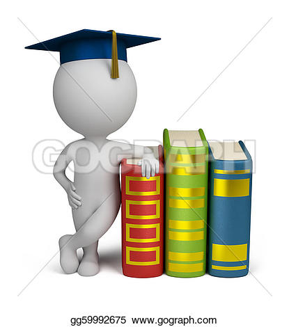 3D clipart graduation Small and Drawing  Clipart