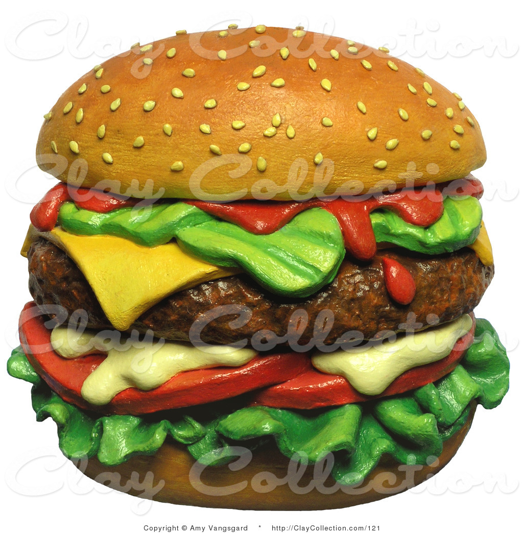 Burger clipart drawn Top 3d a of Cheeseburger