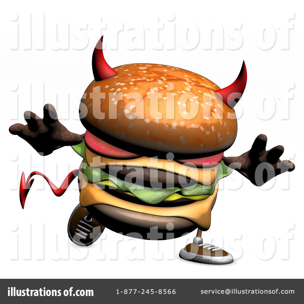 3D clipart hamburger By Devil #1109472 Burger Devil