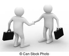 3D clipart handshake Image Isolated businessmen Handshake Meeting