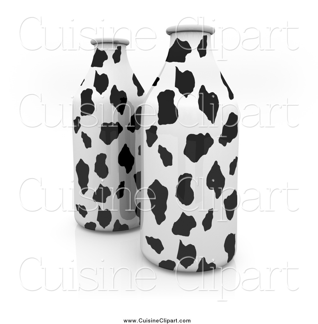 3D clipart milk Cow  3d Containers a