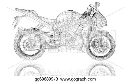 3D clipart motorcycle Drawing model Drawing  gg69689973
