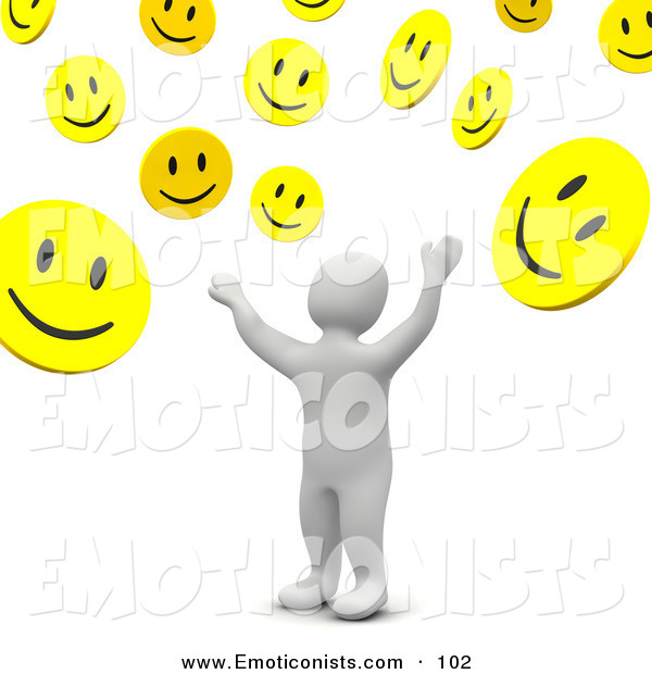 3D clipart nice person Tossing Clip Blanco  3d