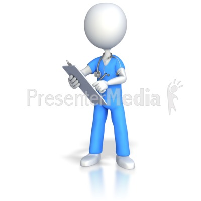 3D clipart nurse Clipart PowerPoint Clipart Charting and