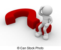 Question Mark clipart person 085 a Clipart and sitting