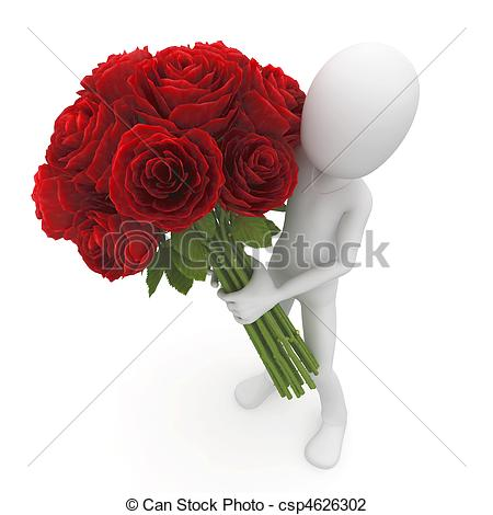 3D clipart rose Clip red roses flowers flowers