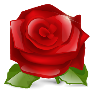 3D clipart rose Red live red live rose