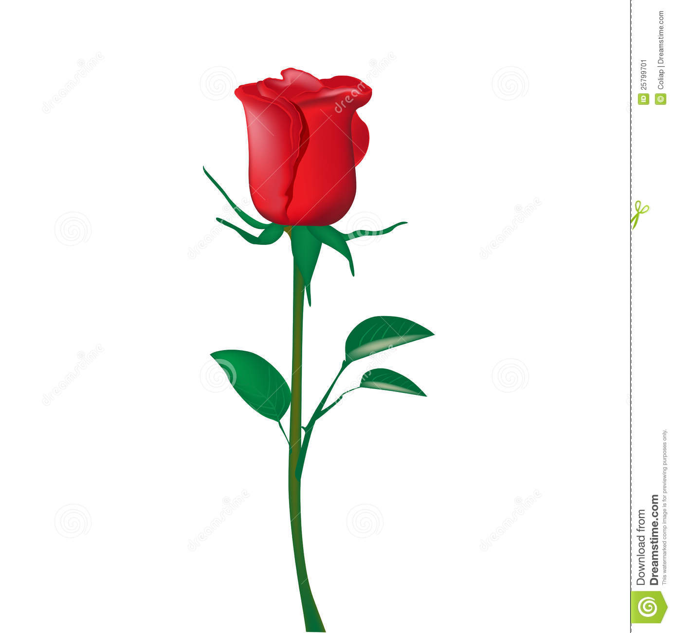 3D clipart rose Rose clipart red clipart 3d