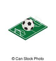 3D clipart soccer field  3D style 3d of