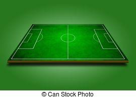 3D clipart soccer field  of Clipart of soccer