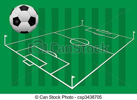 3D clipart soccer field  Clipart csp3438705 Soccer on