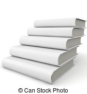 Book clipart staircase 3d blank Clipart book 086