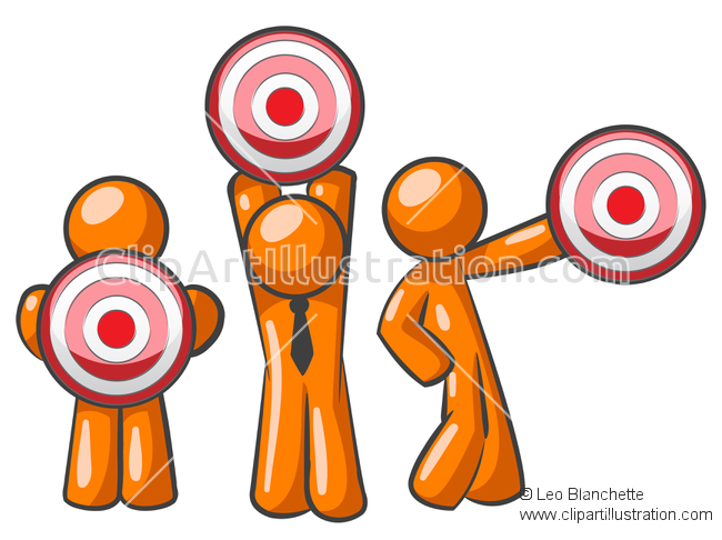 Audience clipart main character Of Advertising Target Man of