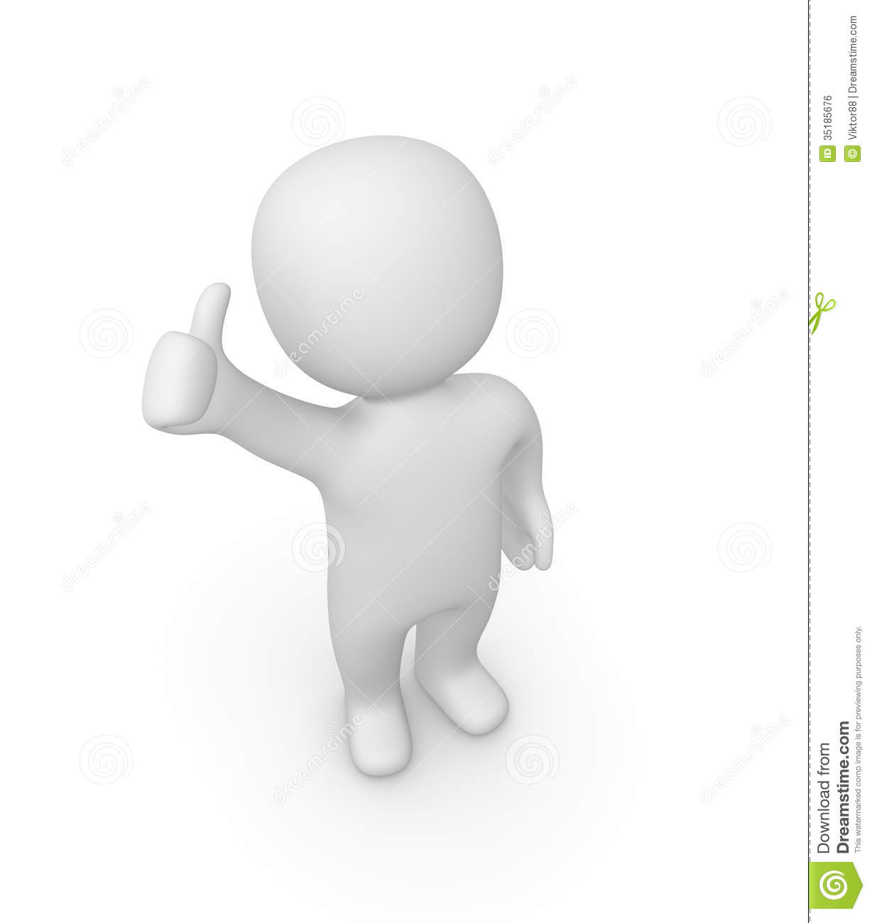 3D clipart thumbs up Up (75+) Man Thumbs up