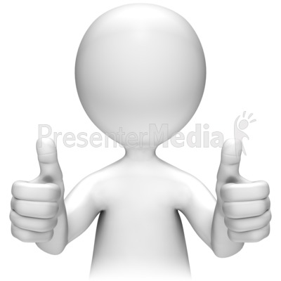 3D clipart thumbs up Thumbs Presentation Art Two PowerPoint