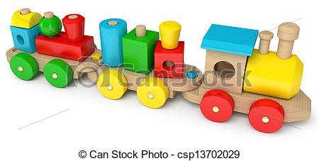 3D clipart train 472 a  and train