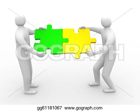 3D clipart two person Illustration Illustration Two person gg61181067