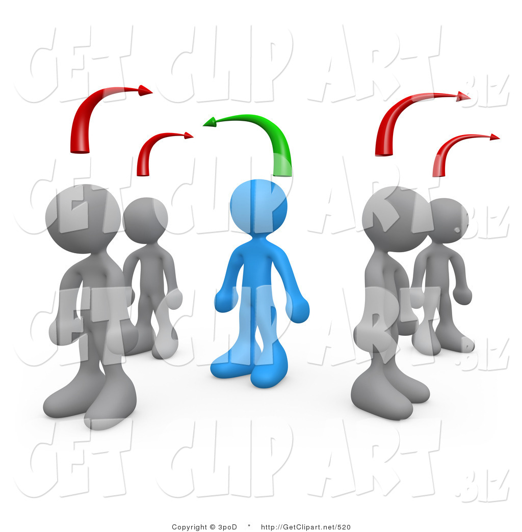 Other clipart different person Art of Person Standing Between