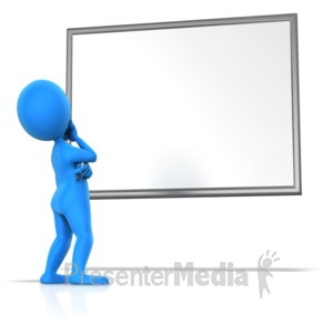 Display clipart tv set Blank Presentation Board 10975