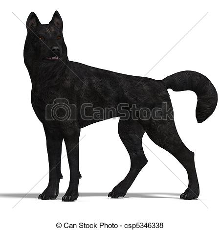 3D clipart wolf Of 3D rendering Wolf 3D
