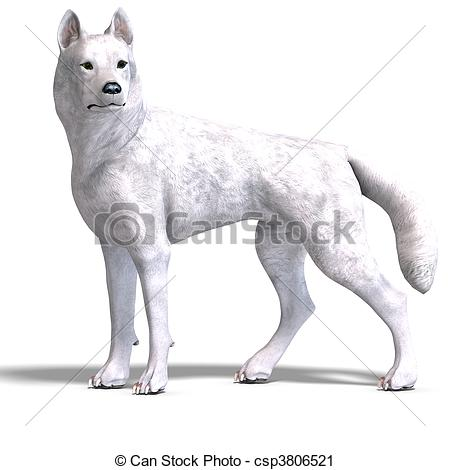 3D clipart wolf Clipart White Wolf Illustration Wolf