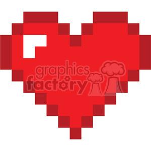 8 Bit clipart Royalty art vector 8 love