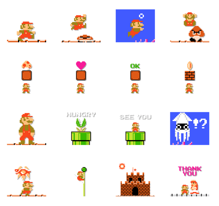 8 Bit clipart old school 2 Mario Nintendo Super