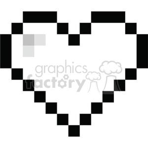 8 Bit clipart Black vector black 8 love