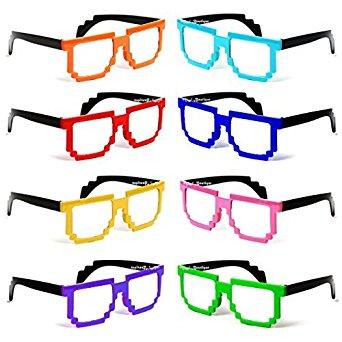 8 Bit clipart glass Lens Glasses OF Bit Gamer